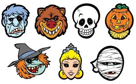 Doce máscaras de Halloween para imprimir