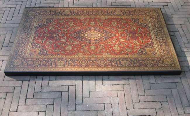 Plastic carpet la mesa alfombra for Alfombras orientales ikea