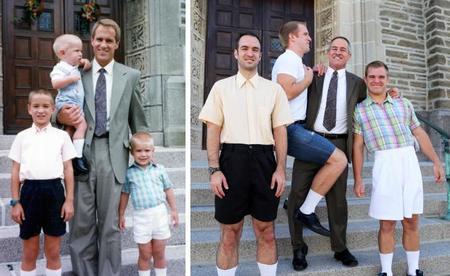 Tres hermanos recrean sus fotos de la infancia 18 años después