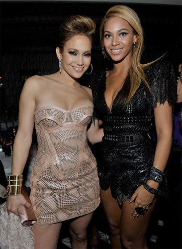 Beyoncé y Jennifer Lopez de fiesta post-Grammy