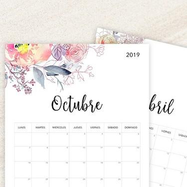Nueve diseños de calendarios gratuitos e imprimibles para empezar organizadamente 2019