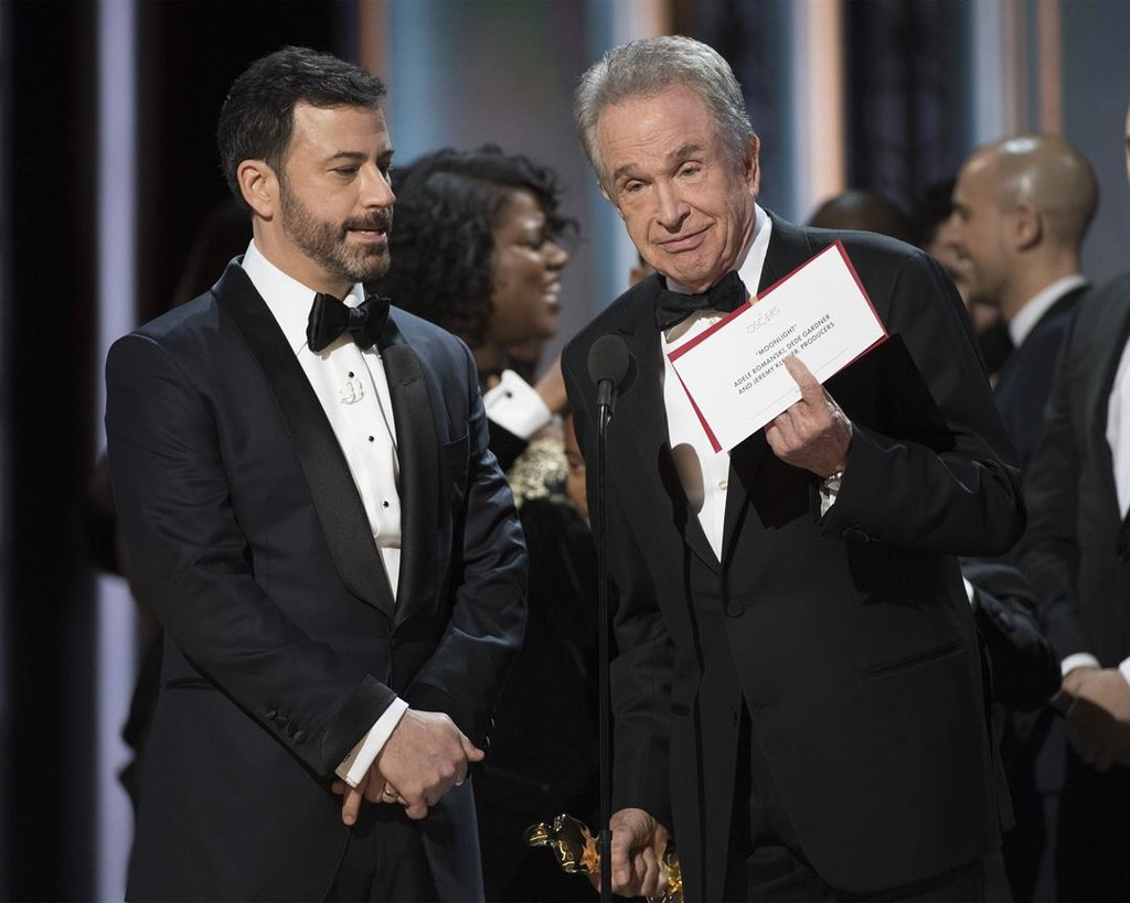 Jimmy Kimmel con Warren Beatty
