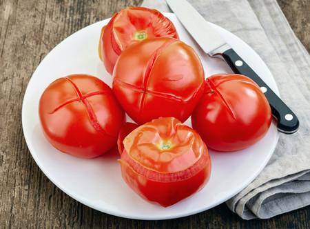 Tomates con piel