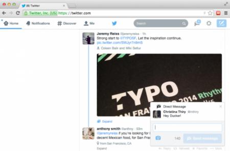 Twitter incluye las notificaciones en su página web