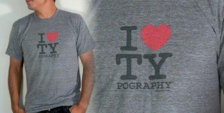 Camiseta para los enamorados de la tipografía