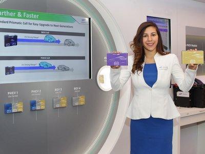 Samsung presenta en Detroit la última optimización de sus baterías: mejor recarga e integración modular