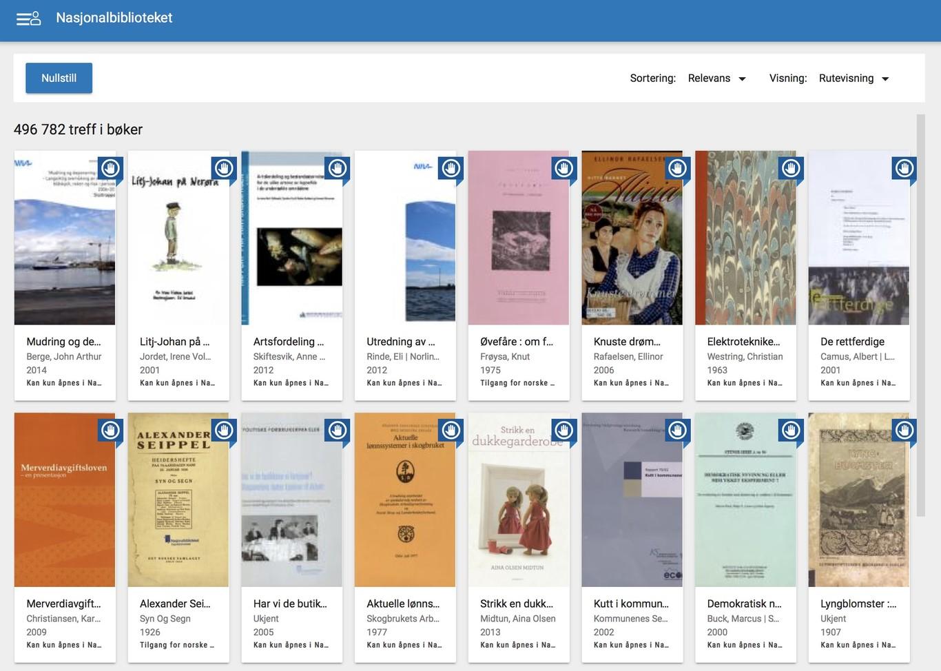 La Biblioteca Nacional de Noruega digitalizó casi todos los libros noruegos de antes de 2000 y los pone gratis en línea