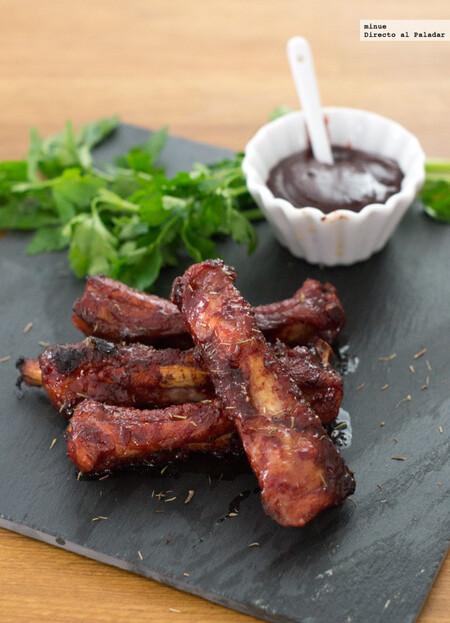 Costillas de cerdo glaseadas con salsa Hoisin, receta