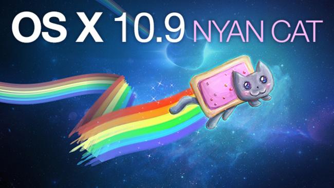 OS X 10.9 Nyan Cat