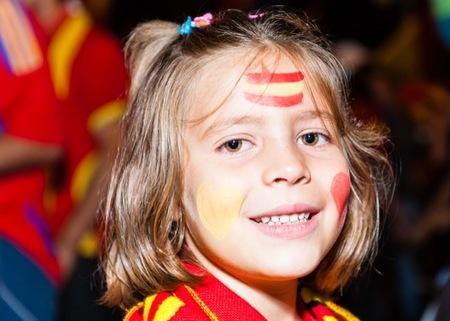 Y España ganó la Eurocopa 2012 y los niños felices