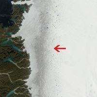 La gruesa capa de hielo de Groenlandia se está volviendo negra por culpa de la contaminación