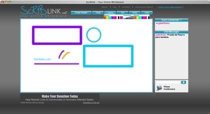 Scriblink, pizarra digital compartida para grupos de personas