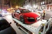 Un Audi R8 voló por las calles de Vigo a 179 km/h