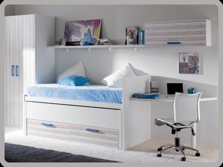Repaso a los dormitorios juveniles de moblerone for Dormitorios juveniles modernos precios