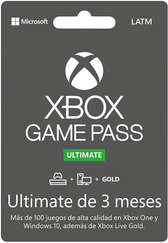 Tarjeta de Xbox Game Pass de tres meses