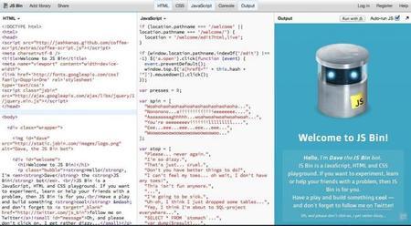 JS Bin, edita HTML, CSS y JavaScript con un sencillo sandbox en tiempo real