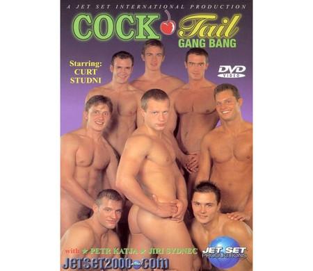 Carátula de una película porno. En el centro a la derecha, Martin Mester.