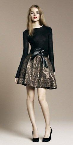 Zara falda estampada