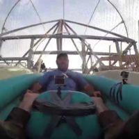 Así es el primer viaje en el tobogán de agua más alto del mundo