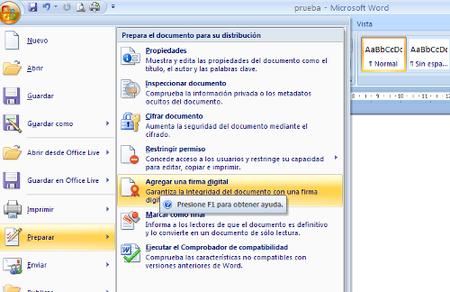 Novedades en la firma electrónica en Office 2010