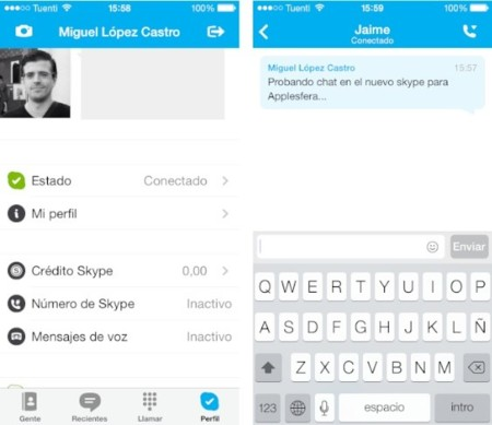 Skype se sube al carro de los rediseños para iOS 7 con su última actualización