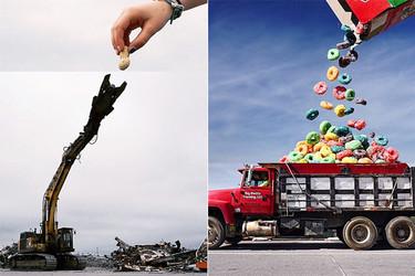 Divertido surrealismo culinario combinando fotografías