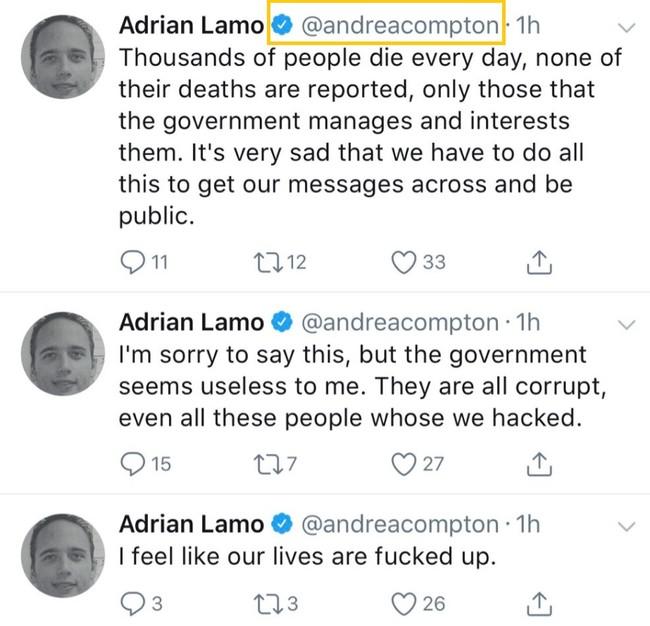 Hackean la cuenta de Andrea Compton y publican sus datos personales en Twitter