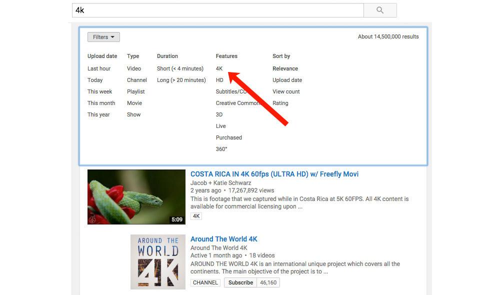 Youtube 4k Filter