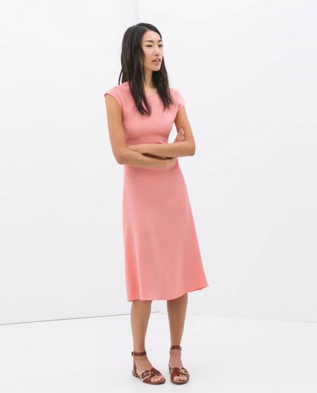 Zara rosa vestidos primavera 2014