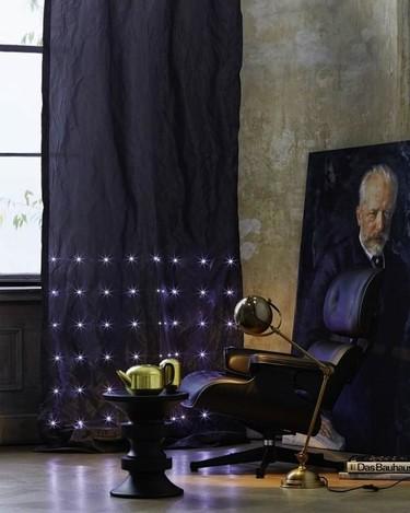 Cortinas con LEDs para dar un toque mágico a cualquier estancia
