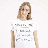 Camiseta Sorry I Late Topshop
