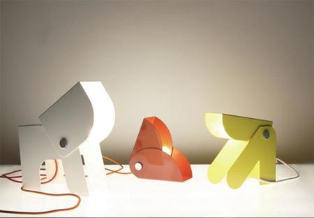 Anim, bonitas lámparas para la habitación infantil