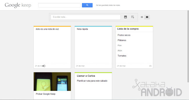 Google Keep para Android