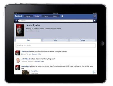 Facebook lanzará un app para iPad pese a Spartan