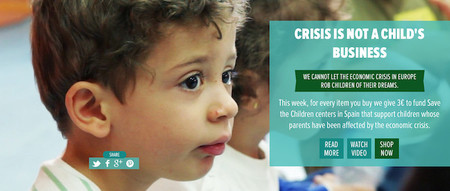 Durante esta semana si compras en Embody Europe, colaboras con los centros infantiles de Save the Chidren