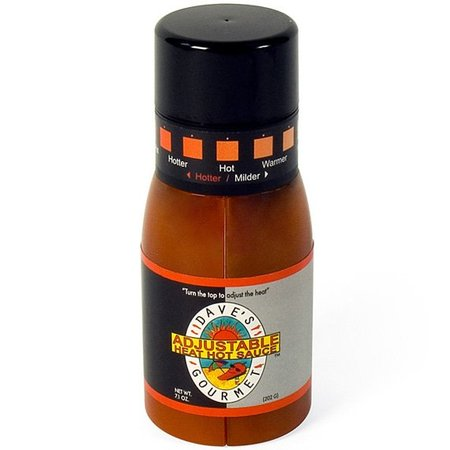 Un bote de salsa que gradúa el picante