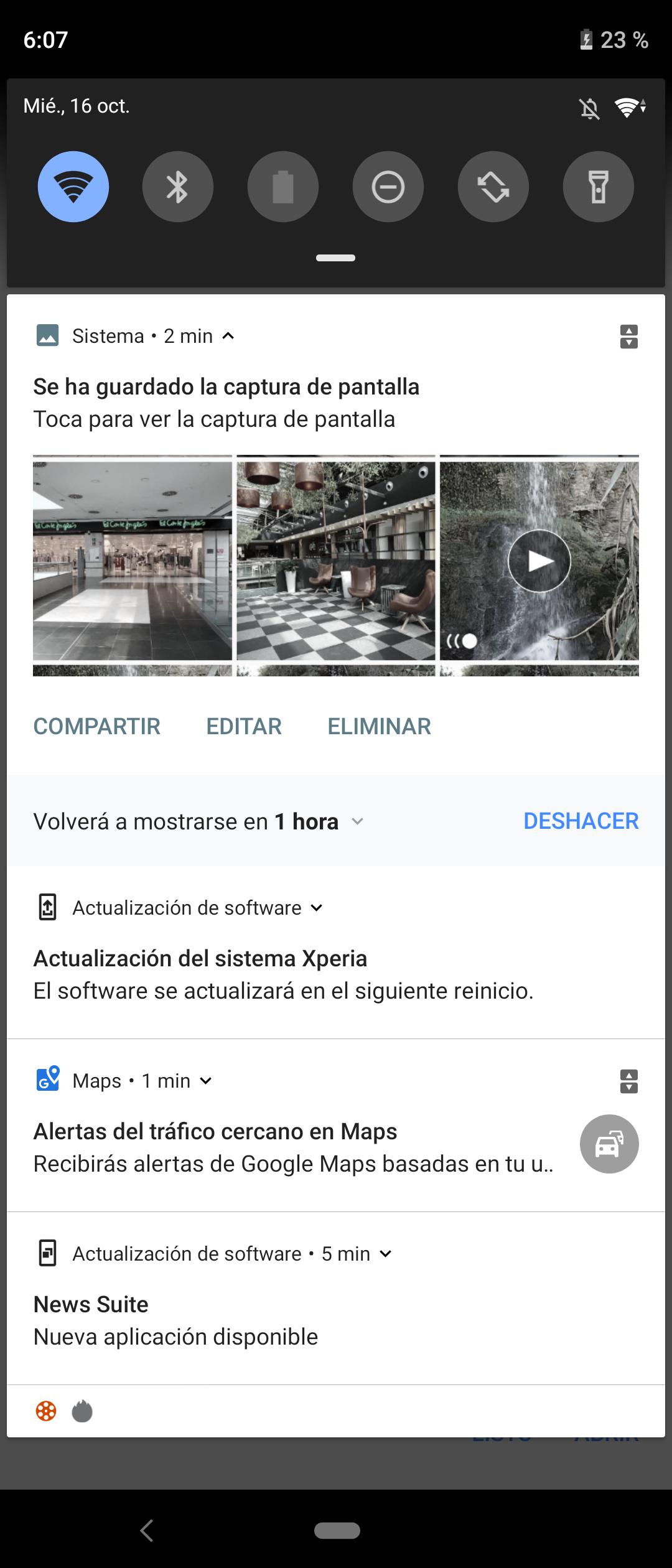 Xperia 5 interfaz