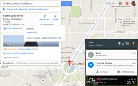 La versión de escritorio de Google Maps ahora permite enviar ubicaciones a tu dispositivo Android