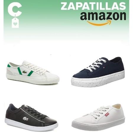 Chollos en tallas sueltas de zapatillas Lacoste, Tommy Hilfiger o Levi's en Amazon por menos de 40 euros