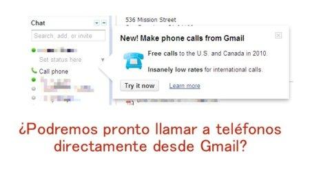 Google está probando la posibilidad de hacer y recibir llamadas de teléfono desde Gmail