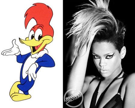 Separados al nacer: Rihanna Vs el Pájaro Loco y Eva Simons
