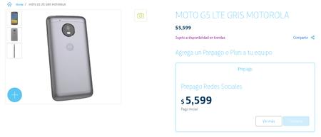 Moto G5 Precio Prepago Movistar Mexico