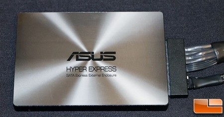 ASUS da demostración de SATA Express con unidad externa HyperXpress