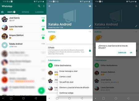 Cómo editar una lista de difusión en WhatsApp