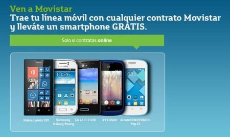 Movistar incluye en su terna de smartphones a cero euros el Alcatel One Touch Pop C1