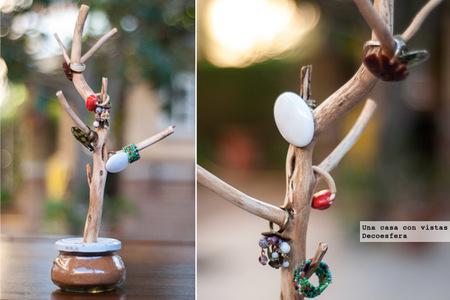Hazlo tú mismo: una rama para guardar tus joyas