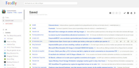 Feedly Reader, transforma Feedly con la apariencia de Google Reader