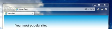 Interfaz Internet Explorer 9