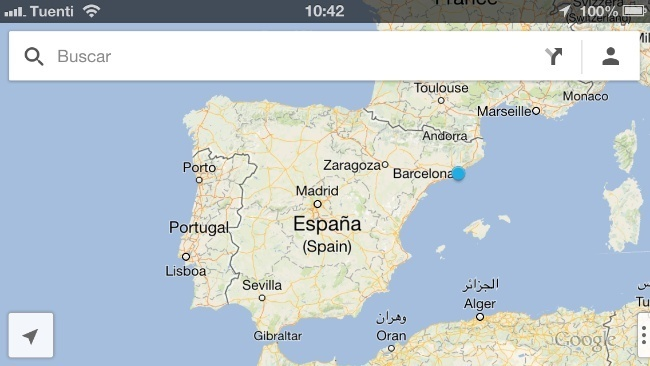 google maps ios mapas