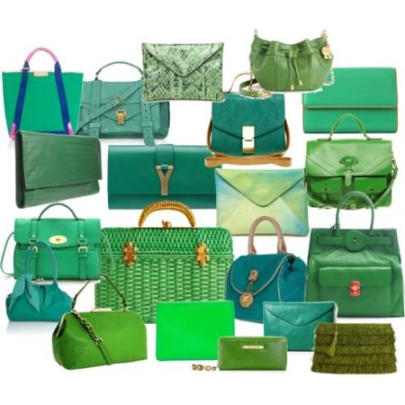 Verde que te quiero verde, bolsos para todas